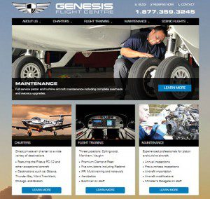 genesis flight centre new website