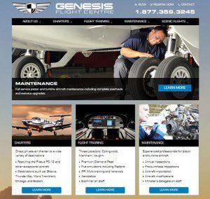 genesis flight centre new website