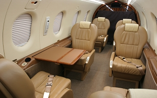 PILATUS PC-12 charter aircraft interior