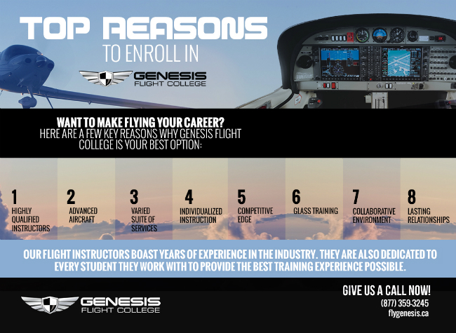 Top Reasons to Enroll in Genesis Flight College [infographic]